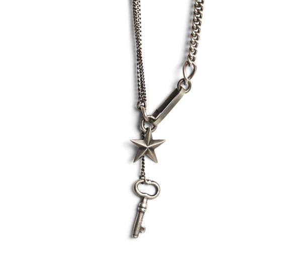 necklace key+star