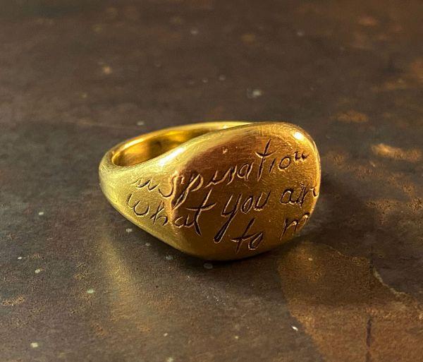 signet ring inspiration gold