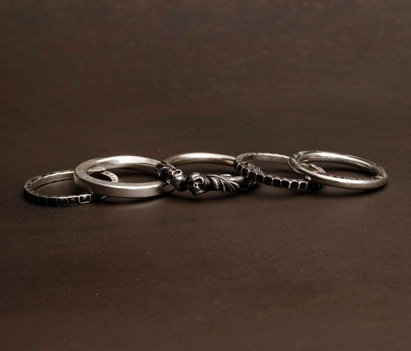 5 ring combi skull