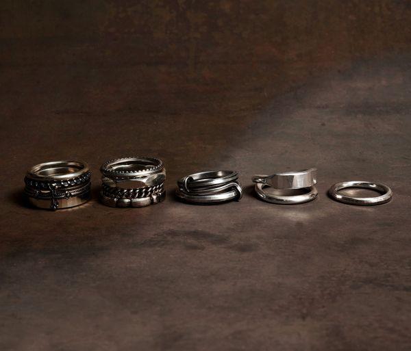 4 ring combi facettes