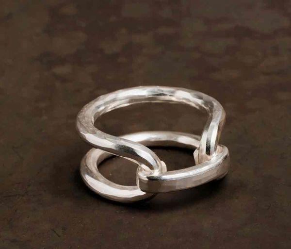 ring hammered link