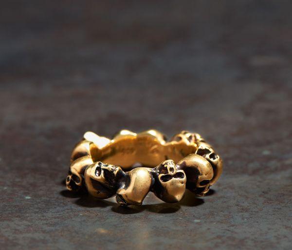ring multiskulls gold