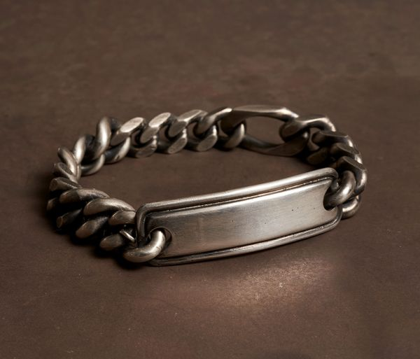 bracelet curb chain tube tag