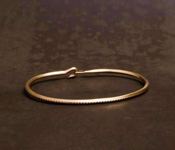 bangle side hook rope gold