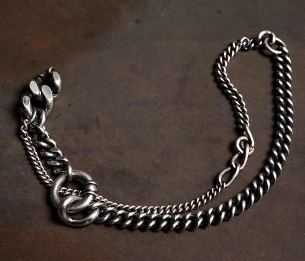 bracelet two chains ring