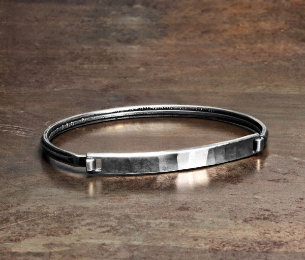 bracelet closure tag hammered