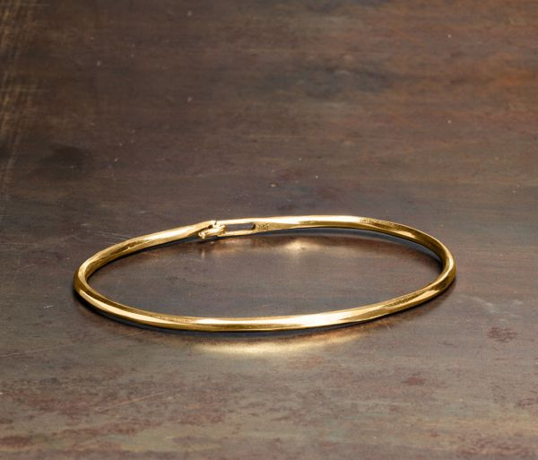 bangle hook hammered gold