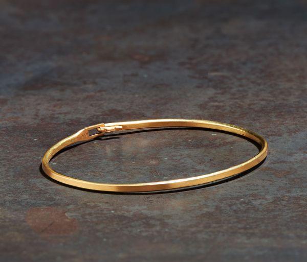 bangle hook plain gold