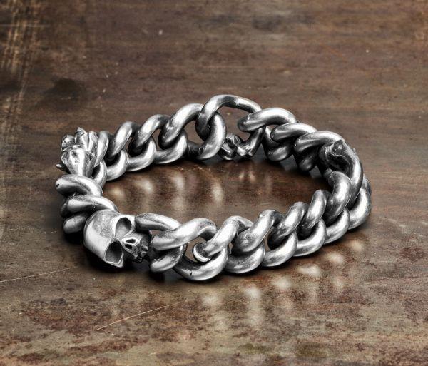bracelet curb chain bones