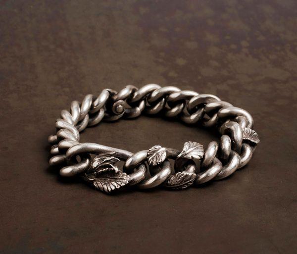 bracelet curb chain rosebud