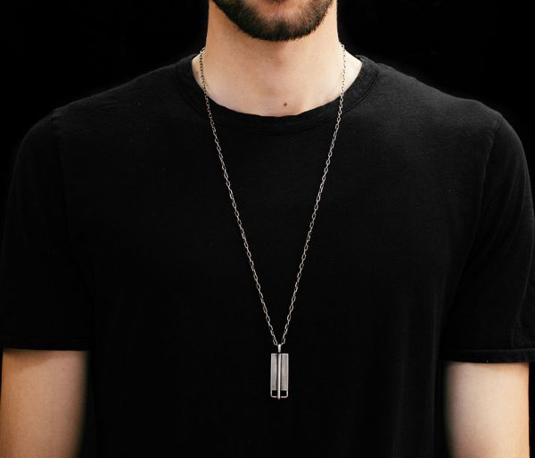 necklace cross tag