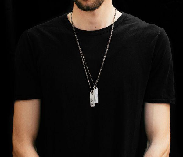 necklace tags faith love hope
