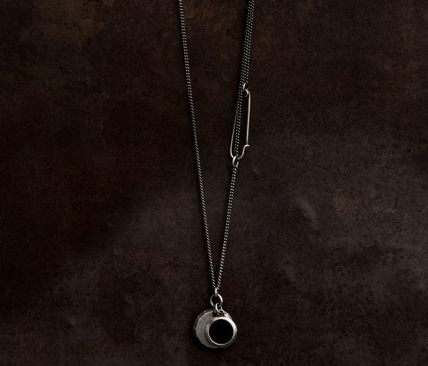 necklace chain plate facettes