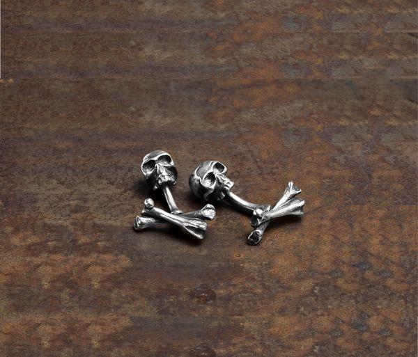 cuff links bones+skull
