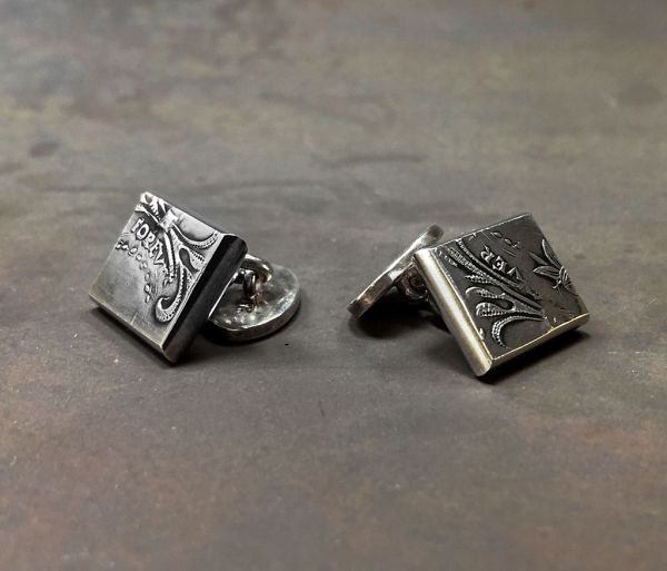 cuff links metal tattoo