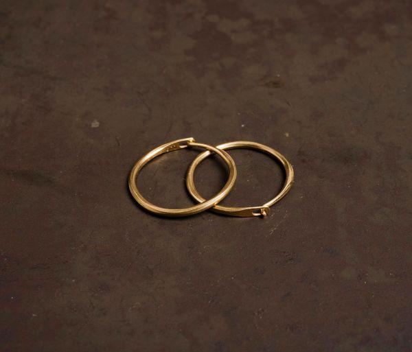 hoop earrings super fine  gold