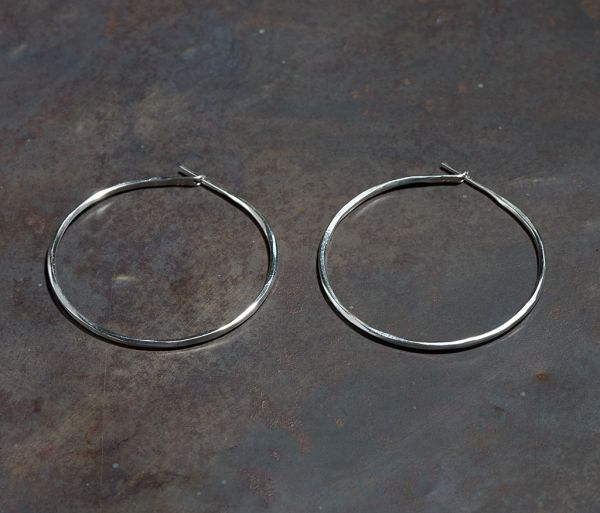 hoop earrings hammered