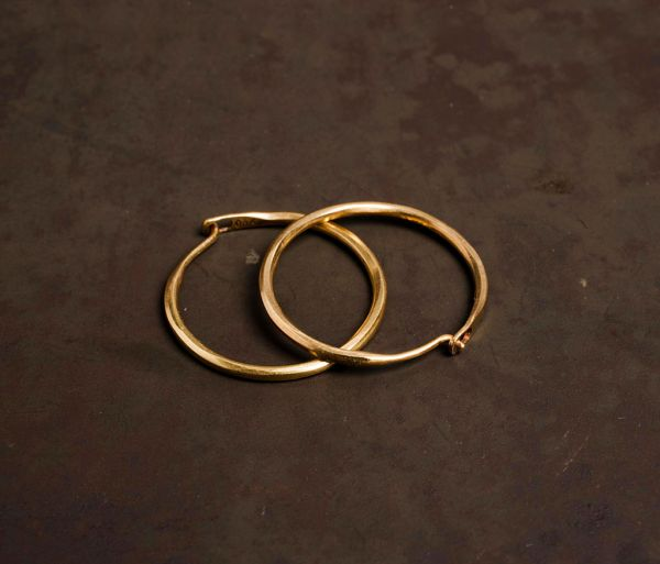 hoop earrings fine ham gold