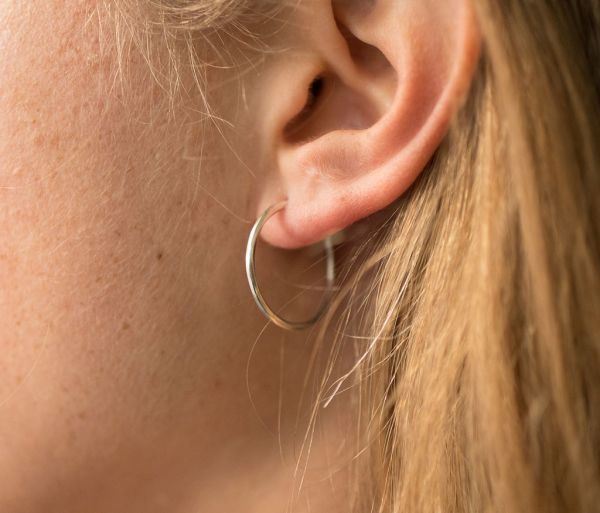 hoop earrings fine hammered