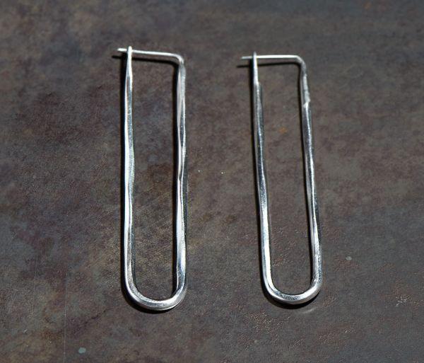earrings loop hammered