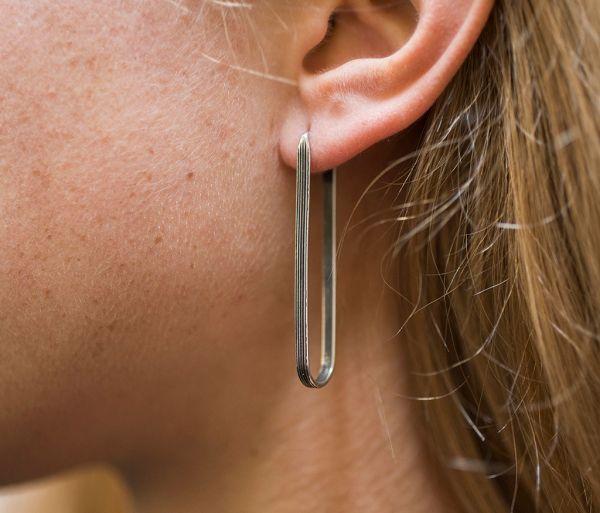 earrings loop lines