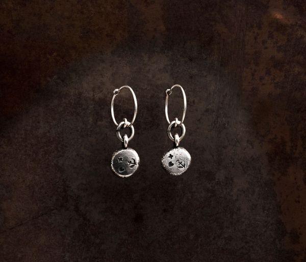 earrings pendant faith love hope