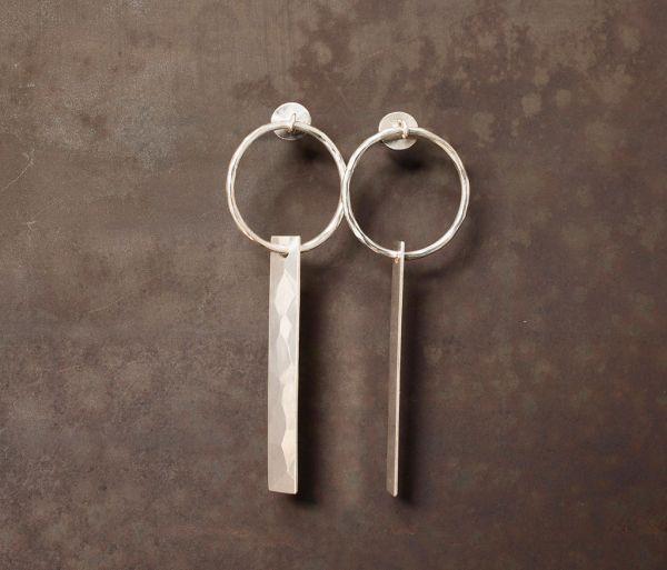 earrings plate hammered