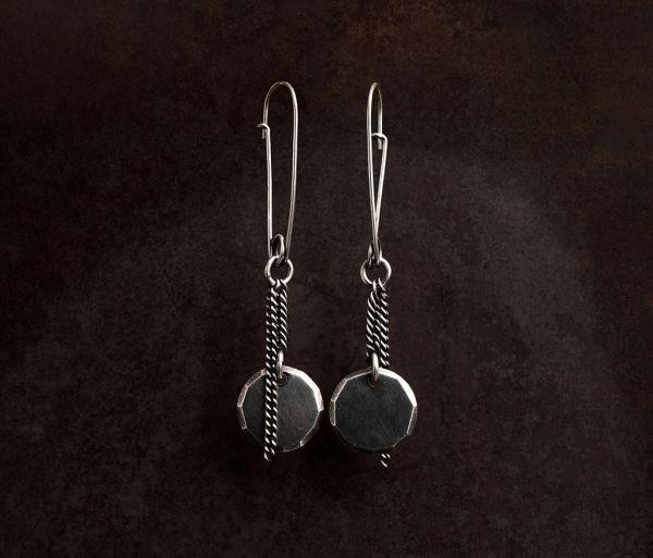 earrings plate facettes