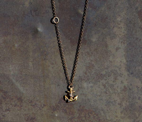chain mini anchor gold