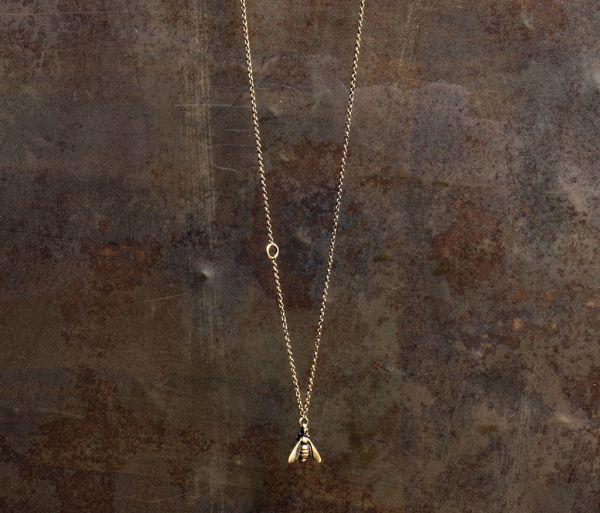 chain mini bee gold