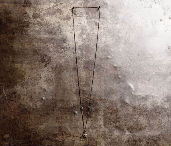 chain mini clock gold