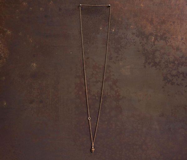chain mini rosebud gold