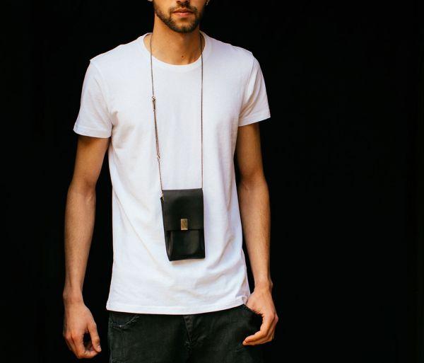 phone purse hammered